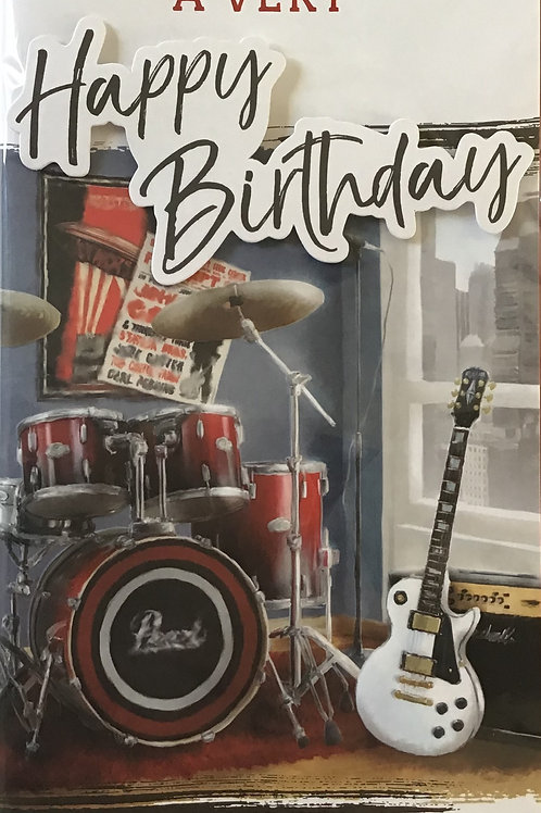 Open Male Birthday Card