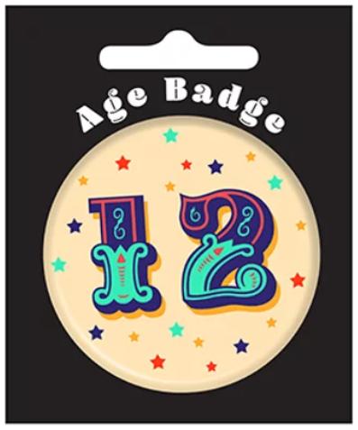 12th Birthday Badge (5.5cm)