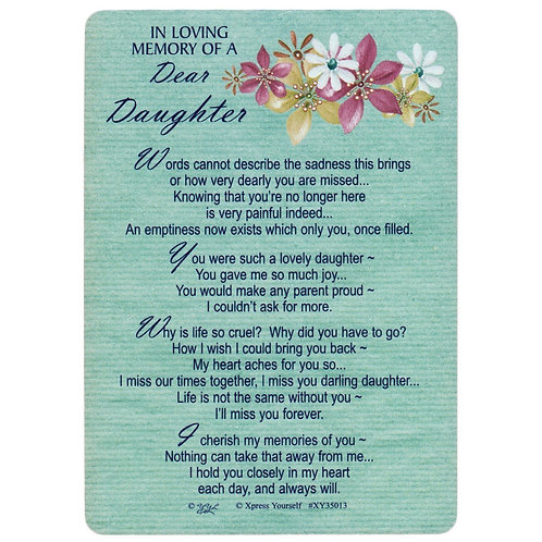 In Loving Memory Of A Dear Daughter