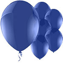 "11"" Latex Balloons Dark Blue"