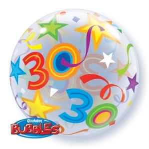 "30th Birthday 22"" Bubble Balloon"