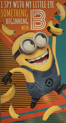 Despicable Me 3 Minions Open Birthday Card