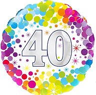 Oaktree 40th Bday Colourful dots Foil.pn