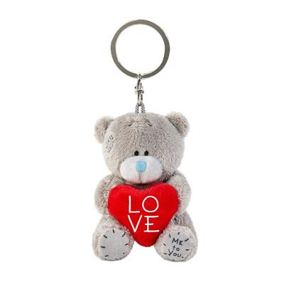 "3"" Padded Love Heart Me to You Bear Plush Key Ring"