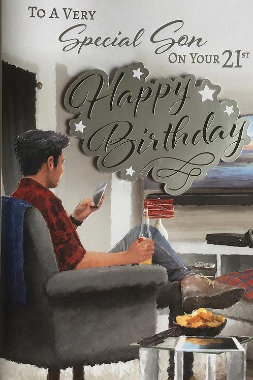 Son's 21st Birthday Card