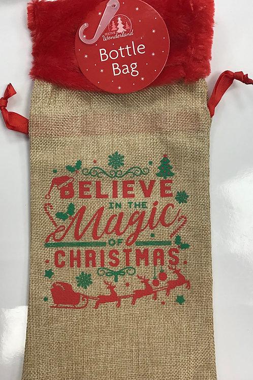 Reusable Hessian Bottle Bag