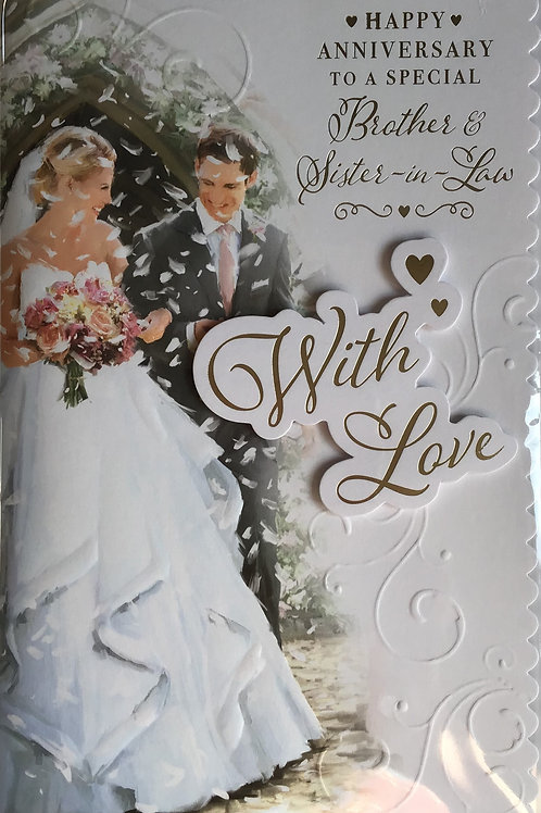 Brother & Sister In Law Anniversary Card