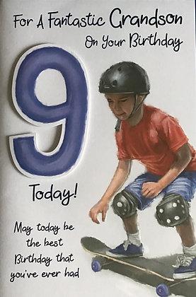 Grandson's 9th Birthday Card