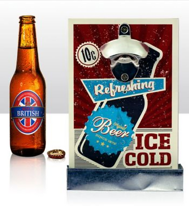 Wall Bottle Opener - Ice Cold Beer