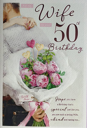 Wife's 50th Birthday Card