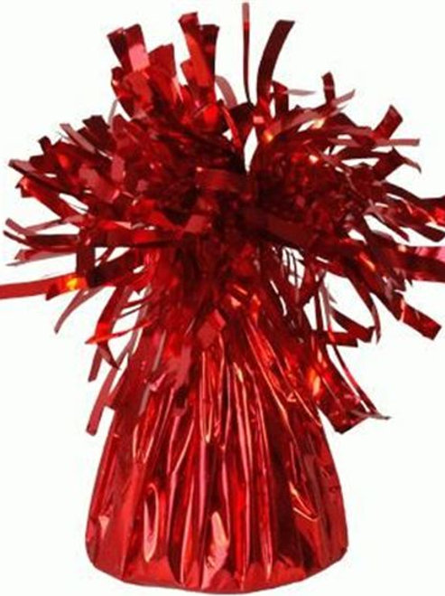Foil Cone Balloon Weights Red 6pk