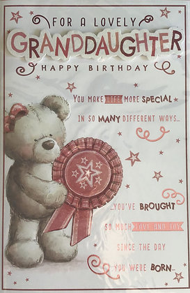 Granddaughter Birthday Card 8 Page
