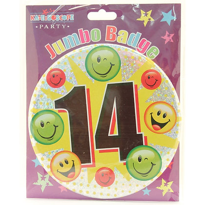 Age 14 Unisex Party Badge (15cm)