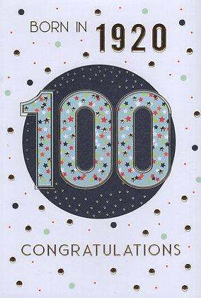 Year You Were Born 100th Birthday Card