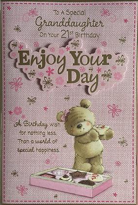 Granddaughter's 21st Birthday Card