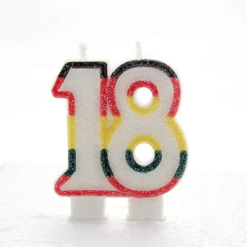 Age 18 Number Candle