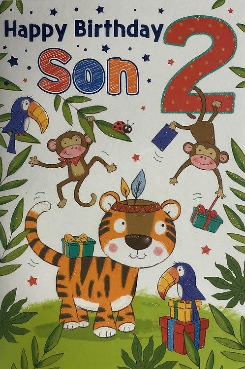 Son's 2nd Birthday Card
