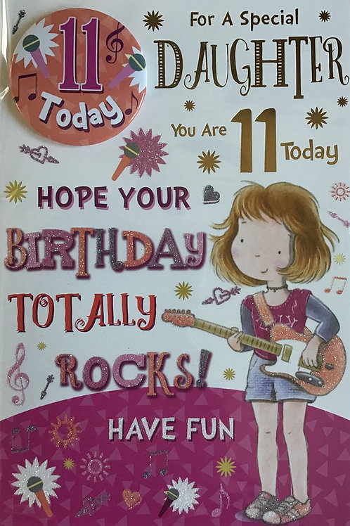Daughter's 11th Birthday Card