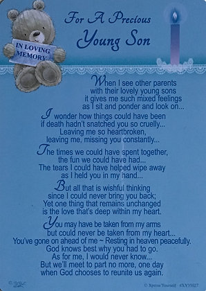 In Loving Memory Of A Young Son