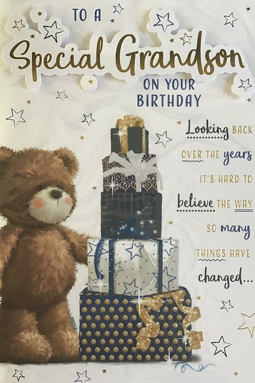 Grandson Birthday Card (Lge) 8 Page