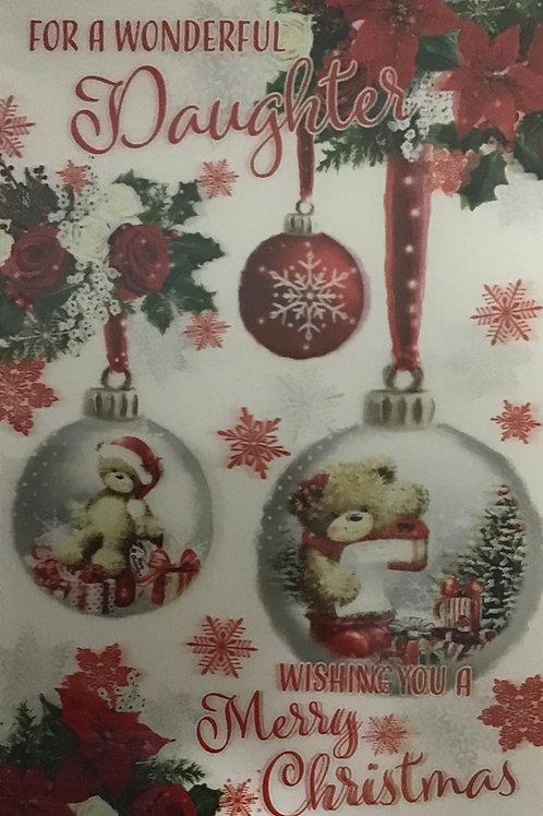 3D Daughter Christmas Card