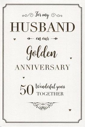 Husband 50th Anniversary Card