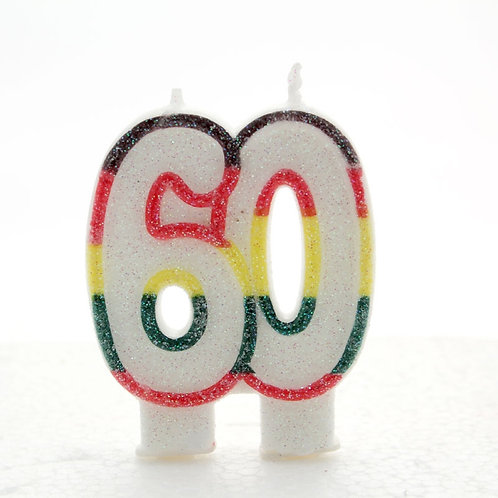 Age 60 Number Candle
