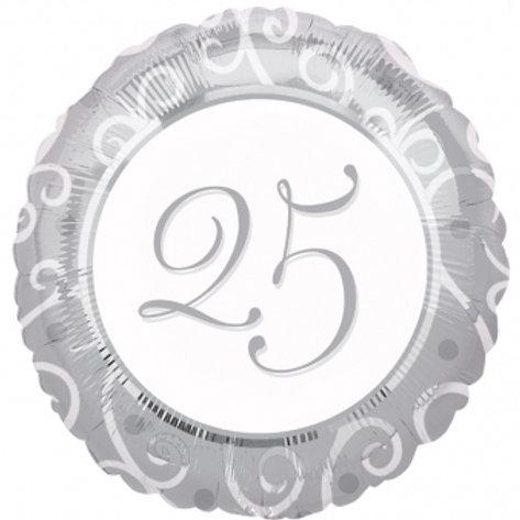 "18"" 25th Anniversary Balloon"