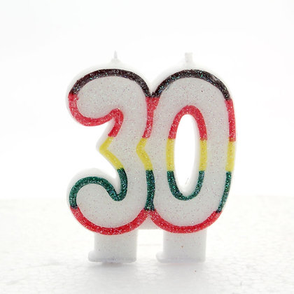 Age 30 Number Candle