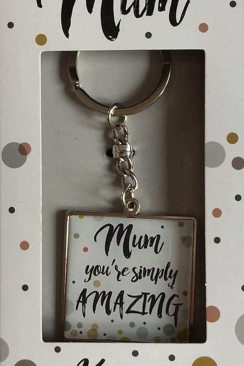Amazing Mum Keyring