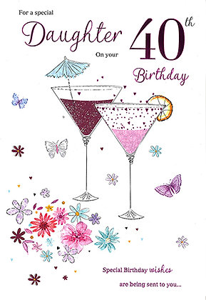 Daughter's 40th Birthday Card