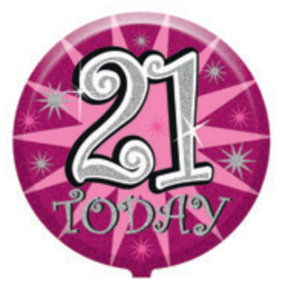 "21st Birthday Female 18"" Foil Balloon"