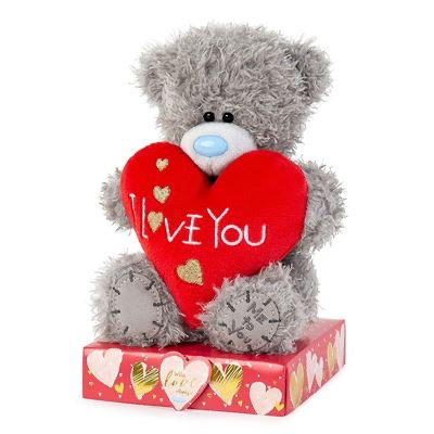 """7"""" I Love You Padded Heart Me to You Bear"""