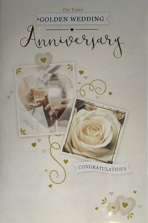 Golden Anniversary Card (50 Years)
