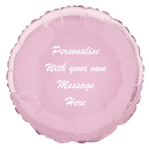 Baby Pink Foil Balloon - Personalised