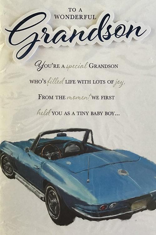 Grandson Birthday Card (Lge) 8 Page