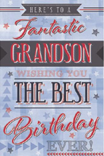 3D Grandson Birthday Card(T)