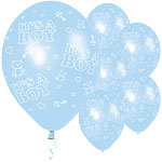"11"" Latex Baby Boy Balloons"