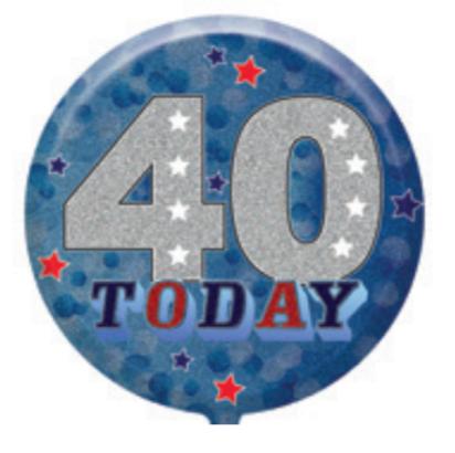 "40th Birthday Male 18"" Foil Balloon"