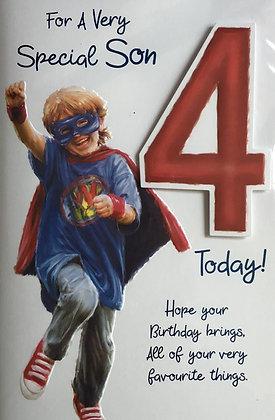 Son's 4th Birthday Card
