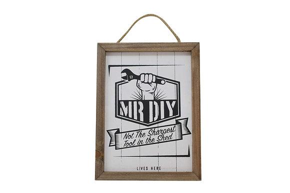 Mr DIY Wooden Plaque