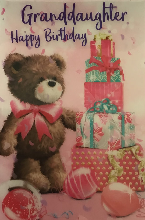 3D Granddaughter Birthday Card (C)