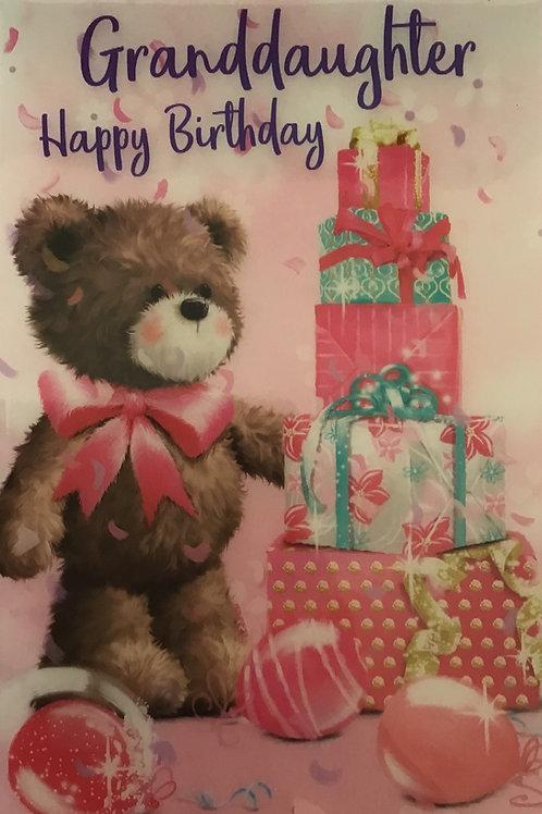 3D Granddaughter Birthday Card (C)