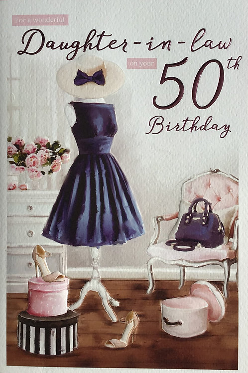 Daughter In Law's 50th Birthday Card