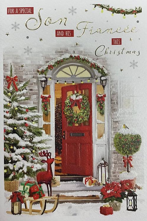 Son & Fiancee Christmas Card