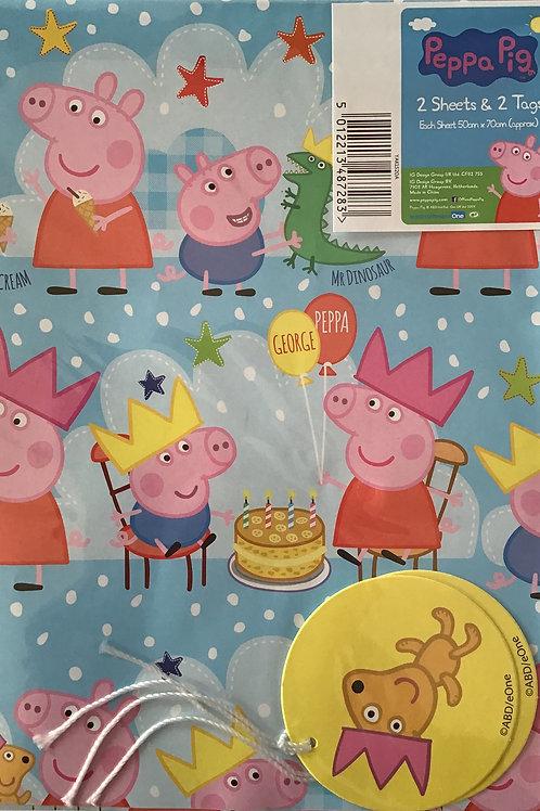 Peppa Pig Gift Wrap Pack