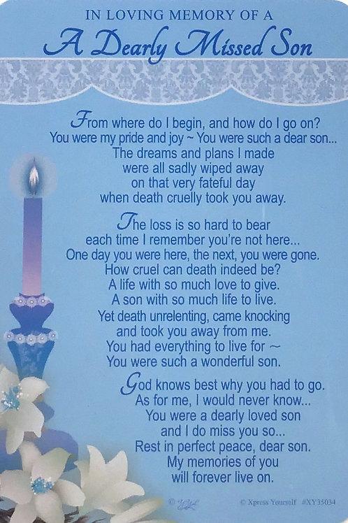 In Loving Memory Son