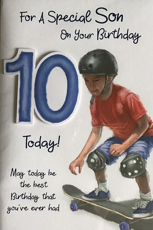 Son's 10th Birthday Card