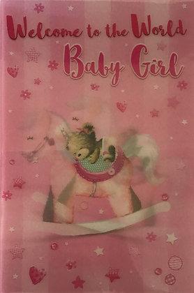 3D Baby Girl Card (C)