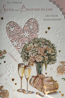 Sister & Brother In Law Anniversary Card